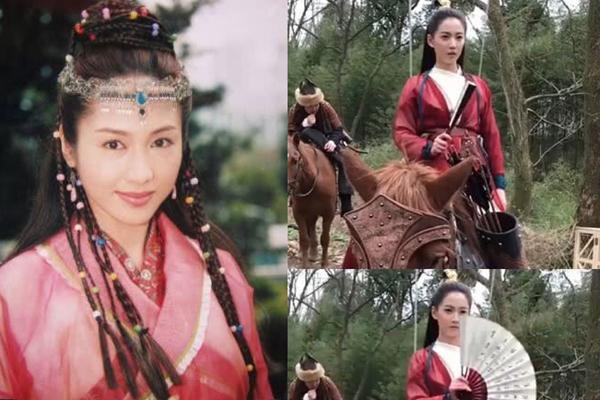Trang phục màu đỏ của Triệu Mẫn phiên bản mới khiến khán giả nhớ tới Triệu Mẫn của Lê Tư trong bản phim năm 2000.