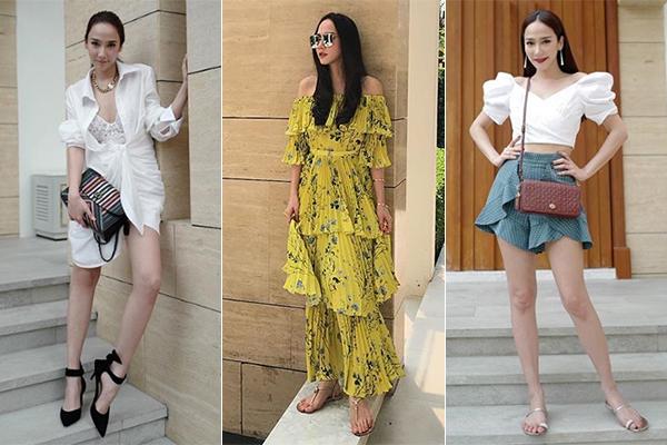 Nếu chỉ nhìn vẻ ngoài của Aum, hẳn nhiều người sẽ đoán cô đang ở độ tuổi U30. Thực tế ngôi sao Thái Lan năm nay đã 40 tuổi nhưng vẫn trẻ trung bất chấp. Cô sở hữu gu ăn mặc hiện đại và rất sang chảnh.