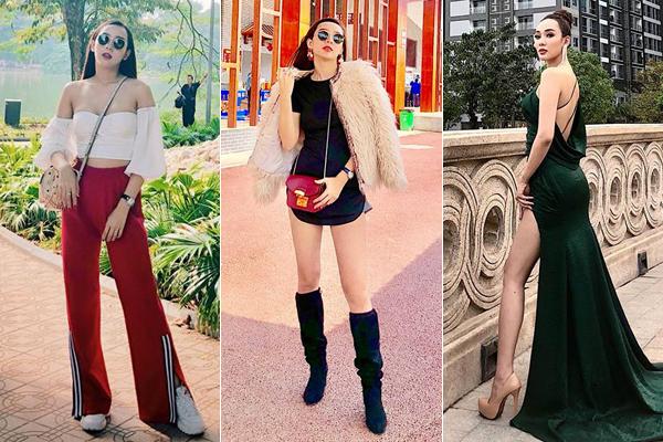 Cô nàng cũng có phong cách thời trang đúng chuẩn một ngôi sao với những món đồ tôn vóc dáng nuột nà, kết hợp phụ kiện đắt đỏ.
