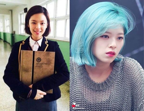 Diện mạo Jeong Yeon không khác biệt là bao so với thời học sinh. Nhờ trang điểm, làm tóc, thành viên Twice trông nổi bật hơn hẳn, sở hữu khí chất ngời ngời.