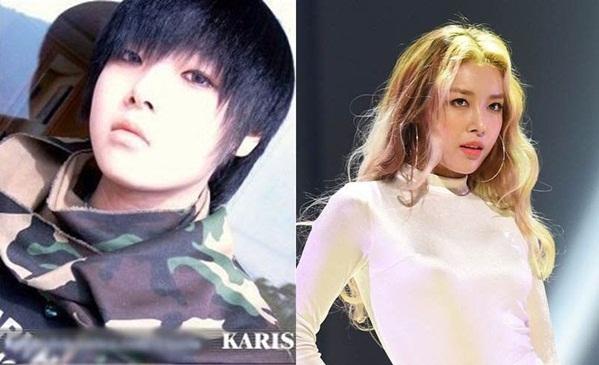 Yu Bin đổi phong cách trái ngược sau khi gia nhập Wonder Girls.