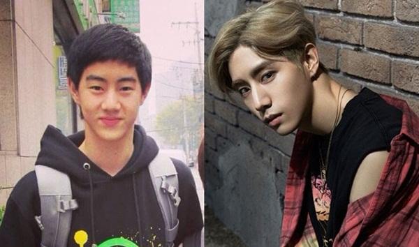 Mark có ngoại hình bình thường như rất nhiều nam sinh khác thời đi học. Dưới bàn tay phù phép của JYP, thành viên GOT7 trông chất hơn hẳn.