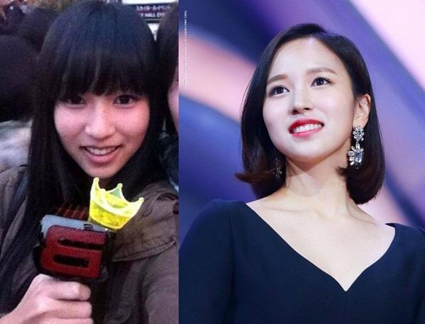 Mina có sự thay đổi rõ rệt về phong cách trước và sau khi debut, từ một cô nàng bình thường trở thành nữ idol có hình tượng tiểu thư sang chảnh.