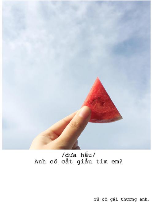 Bộ ảnh thả thính bằng trái cây cực yêu của 9X Sài thành - 6