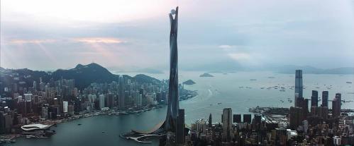 Tòa nhà hoành tráng là mấu chốt của các vấn đề trong phim.