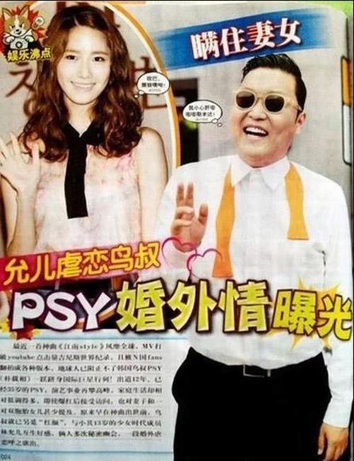 Báo Trung đưa tin Yoon Ah cặp kè cùng PSY.