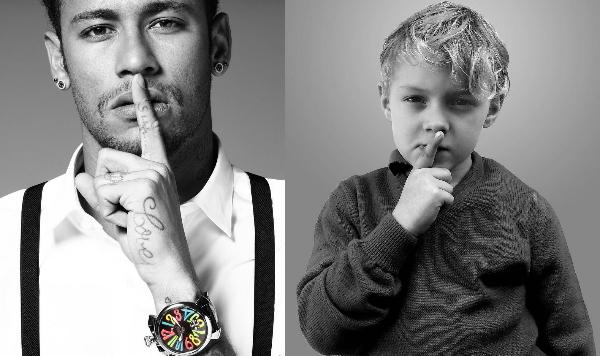 Neymar và con trai David Lucca.