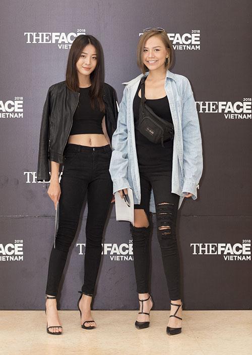 Thí sinh The Face 2017 Quỳnh Như (phải) bất ngờ đăng ký thi một lần nữa.