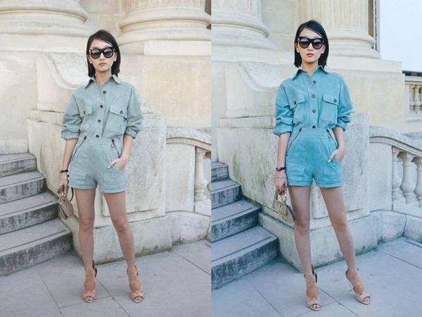 Sở hữu chiều cao hạn chế và đôi chân ngắn, Châu Đông Vũ đẹp hơn hẳn nhờ photoshop.
