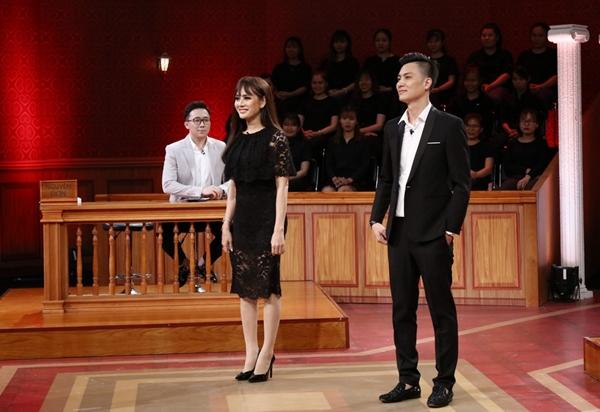 Lâm Khánh Chi và chồng tại phiên tòa.