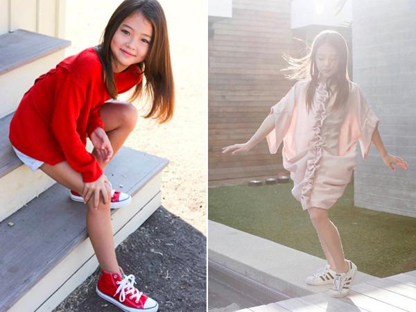 hông chỉ giỏi ở mảng người mẫu, cô bé còn đang luyện tập chơi đàn ghita đệm hát và múa ballet.