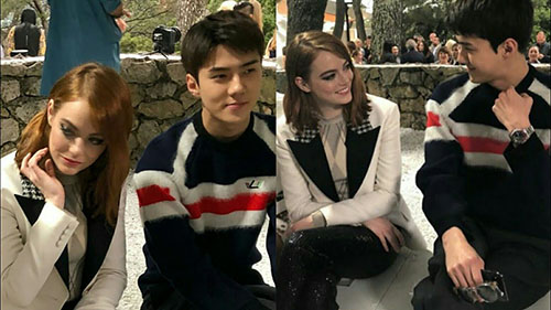 Thành viên EXO tự tin khi đọ sắc cùng ngôi sao quốc tế Emma Stone.