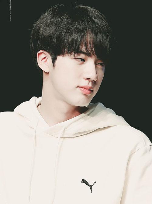 Cuối cùng Jin gia nhập vào Big Hit, nam ca sĩ được tuyển chọn khi đang đứng ở bến xe bus. Với nhan sắc hoàn hảo, mỹ nam của BTS dễ dàng gia nhập bất cứ công ty nào.