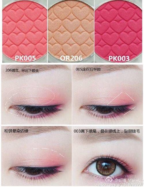 Muốn có đôi mắt như Hani, bạn có thể dùng nhũ cam nhẹ nhàng tán đều lên bầu mắt, ở chính giữa phủ màu hồng san hô. Đuôi mắt dùng màu hồng đậm.