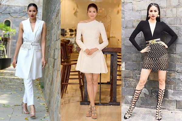 Các đôi sandals cá tính hơn được người đẹp kết hợp cùng những bộ váy áo thanh lịch nhưng vẫn thời thượng.