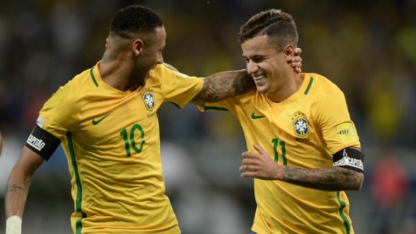 Coutinho số 11đồng hành cùng Neymar số 10trong mùa giải sắp tới trên đất Nga.