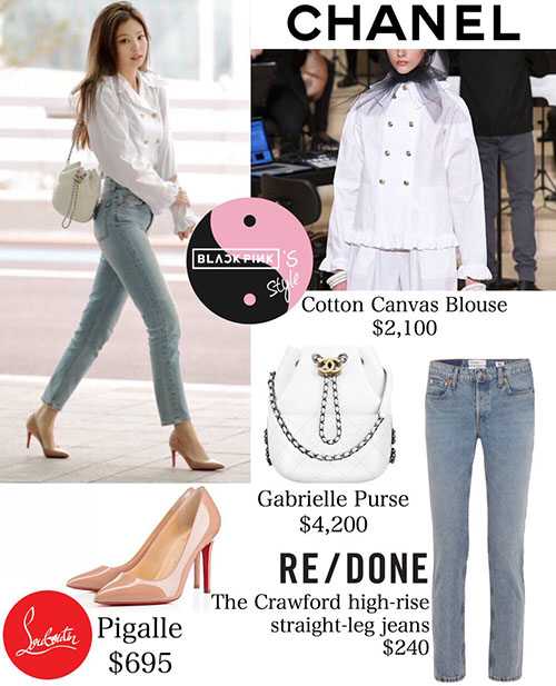 Trang phục của Jennie đều thuộc hàng hiệu và có giá cắt cổ. Item đắt giá nhất trong set đồ săn bay là chiếc túi xách, giá 96 triệu đồng.
