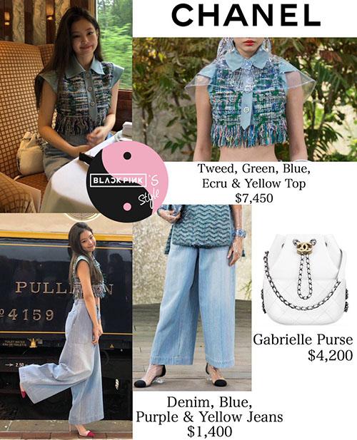 Trang phục của cô nàng tất nhiên thuộc Chanel, thương hiệu chính của sự kiện. Chiếc áo crop top tua rua có giá sốc 170 triệu đồng.