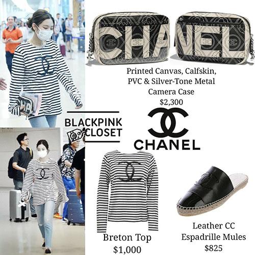 Những item đơn giản này có giá không hề dễ chịu vì toàn thuộc Chanel. Áo phông giá 22,8 triệu đồng, túi cầm tay giá 52 triệu đồng.