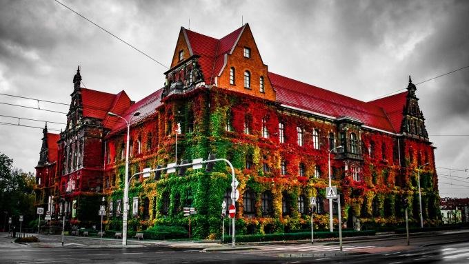 <p> Bảo tàng Quốc gia ở Wroclaw (Ba Lan) được biết đến với kiến trúc mang đậm phong cách châu Âu thời xưa. Dàn hoa giấy nhiều màu sắc bao phủ bên ngoài tạo thêm phần huyền bí và nên thơ.</p>