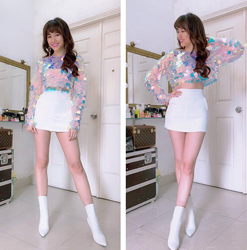 Hari Won được khen nức nở khi diện váy ngắn khoe đôi chân thon dài nuột nà.