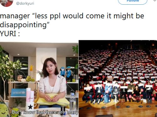 Một fan chứng minh Yuri có rất nhiều người hâm mộ khi đăng tải lại hình ảnh fan meeting trước đó của thành viên SNSD.