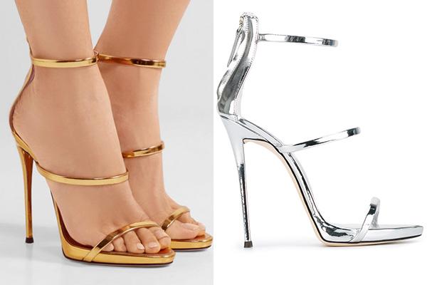 Sandals của Bích Phương và Ngọc Trinh có tên gọi Harmony Sandals, đến từ thương hiệuGiuseppe Zanotti