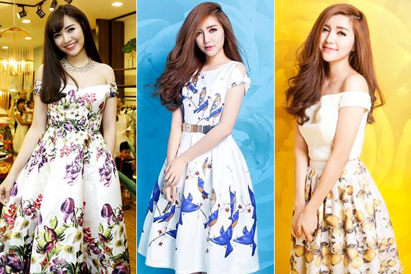 Thời điểm năm 2013-2014, Bích Phương bắt đầu được chú ý sau Vietnam Idol và nổi lên với một số bài hit như Mình yêu nhau đi. Ở giai đoạn này, nữ ca sĩ sinh năm 1989 theo đuổi phong cách nữ tính, đặc biệt ưa chuộng những chiếc váy hoa có dáng xòe, kiểu dáng không tay hoặc trễ vai.