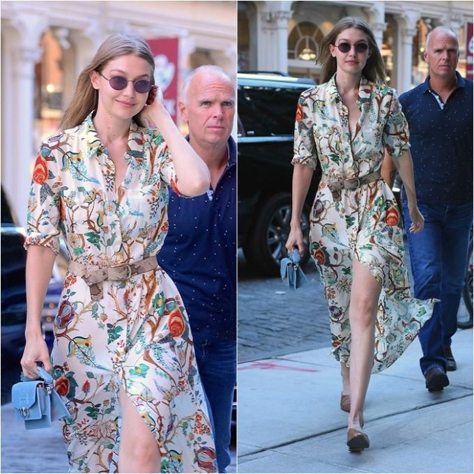 """<p> Ngày 19/6, siêu mẫu Gigi Hadid xuất hiện tại New York với diện mạo sành điệu khiến các tín đồ thời trang """"đứng ngồi không yên"""".</p>"""