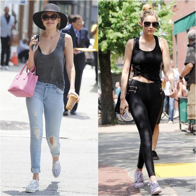 <p> Đặc biệt, tank top là item yêu thích của cô nàng bởi sự năng động khỏe khoắn. Gigi thường mix tank top cùng legging hoặc quần jeans ôm sát khoe đôi chân thon gọn.</p>