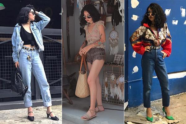 Dù chỉ cao ba mét bẻ đôi nhưng cô gái Sài thành rất biết cách tôn tỷ lệ đôi chân bằng trang phục hợp lý, giúp thân hình mảnh mai, cao ráo hơn.