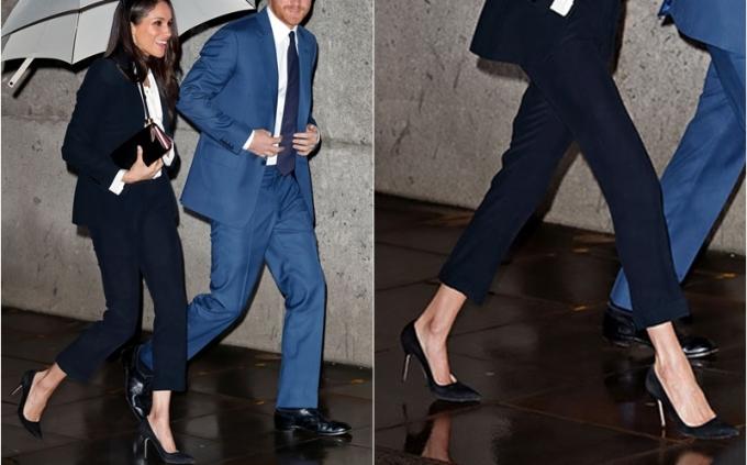 """<p> Chuyên gia này nói thêm: """"Việc sưng và phồng rộp lâu dần có thể trở thành chứng biến dạng ngón chân cái. Victoria Beckham cũng từng gặp rắc rối nặng với giày cao gót"""". Ảnh: Meghan Markle tham dự lễ trao giải Endeavour 2018.</p>"""