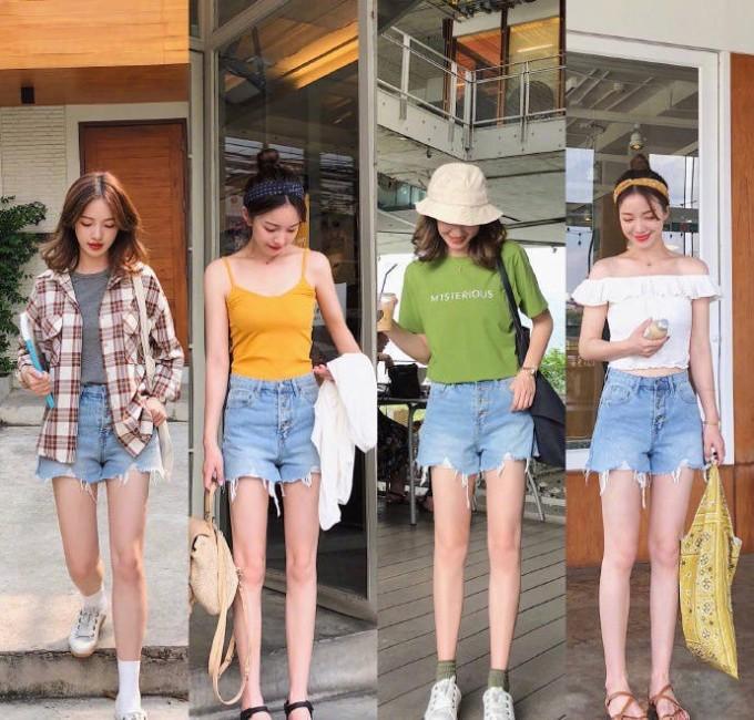 """<p> Nếu bạn thường xuyên trong tình trạng cảm thấy tủ quần áo của mình """"chẳng có gì để mặc"""", hãy tham khảo bí quyết mix đồ thú vị sau đây. Với cùng một item, nếu khéo biến hóa, vẻ ngoài của bạn trông vẫn sẽ luôn mới mẻ.</p> <p> Quần shorts jeans có thể mix cùng áo phông, áo hai dây, áo trễ vai hay khoác thêm một chiếc sơ mi caro để tạo vẻ năng động.</p>"""
