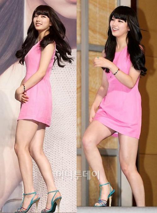 Đôi chân to, thô kệch của Suzy thực sự tỷ lệ nghịch với nhan sắc xinh đẹp, trong trẻo được ví như quốc bảo của cô nàng.