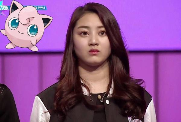 Khuôn mặt tròn trịa, bầu bĩnh từng khiến Ji Hyo được fan đặt biệt danh là Jigglypuff (một bé Pokémon tròn xoe dễ thương).