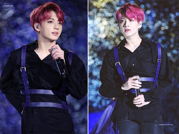 Trong buổi trình diễn mới đây, các Army đã cực kì bất ngờ và thích thú khi được chiêm ngưỡng màu tóc mới lạ của giọng ca chính trong nhóm BTS. Được biết vốn sở hữu gương mặt hiền như cục bột và giọng hát trầm ấm, Jung Kook thường chọn những màu tóc tối như nâu trà hoặc đen bóng đậm chất hoàng tử. Nhưng anh chàng đã chịu chơi nhuộm hẳn màu tóc đỏ hơi pha chút tím rượu vang, khiến Jung Kook từ một hoàng tử ấm áp trở thành một bad boy chính hiệu.