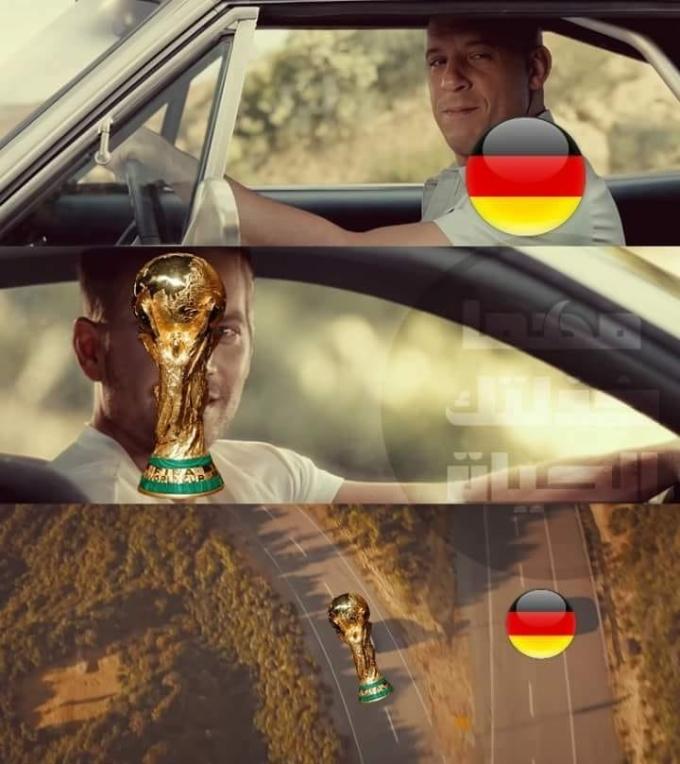 """<p> Tuyển Đức nhận thất bại ê chề. Đây được xem như kết quả gây sốc nhất. Người Đức ngậm ngùi nhận trái đắng. """"Từ nay chúng ta chia đôi 2 ngả nhé Cúp vàng ơi"""" - """"Đức said"""".</p>"""
