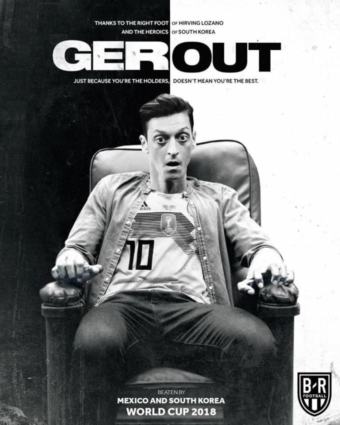 <p> Vẻ mặt của Ozil được ghi danh trong bộ phim kinh dị nhất lịch sử World Cup.</p>