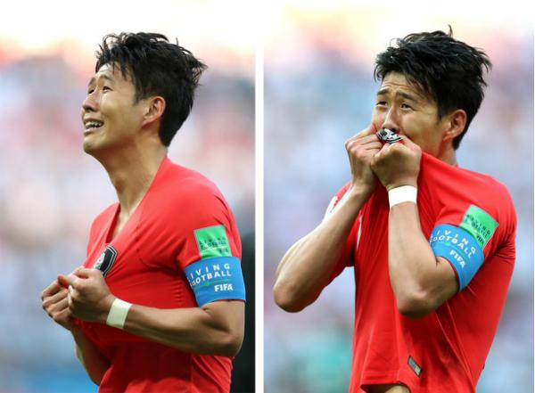 Son Heung Min bật khóc trước chiến thắng của Hàn Quốc trướctuyển Đức.
