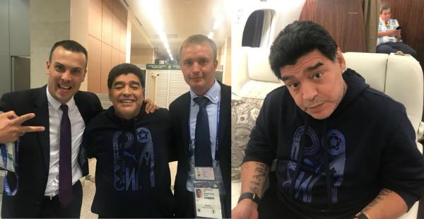 Bức hình chia sẻ trên twitter cho thấy Maradona đã bình phục.
