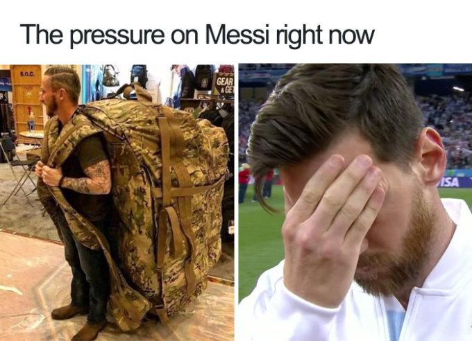 <p> Gánh nặng của Messi.</p>