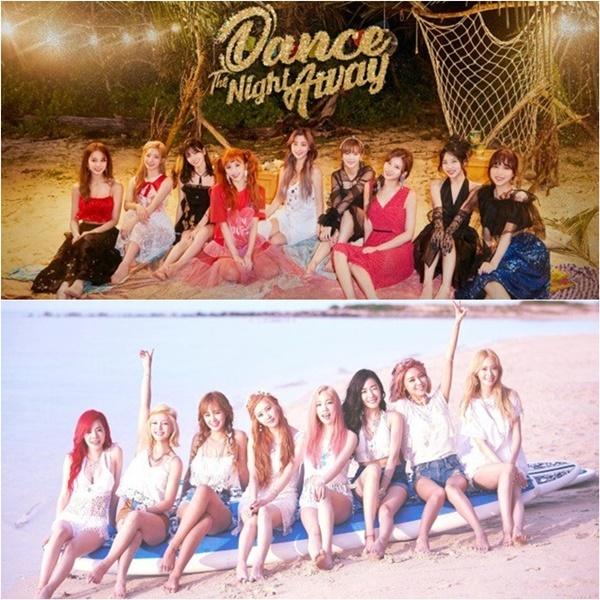 Concept mùa hè của Twice tương đồng với hình ảnh của đàn chị SNSD.