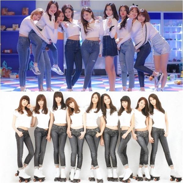 Concept áo thun trắng và quần jeans.