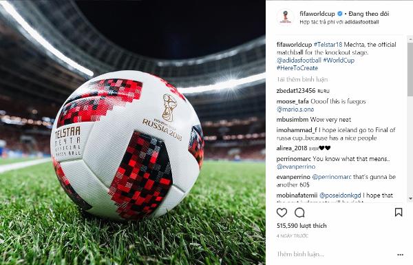 FIFA công bố Telstar Mechta sẽ đồng hành cùng World Cup 2018 từ đêm nay