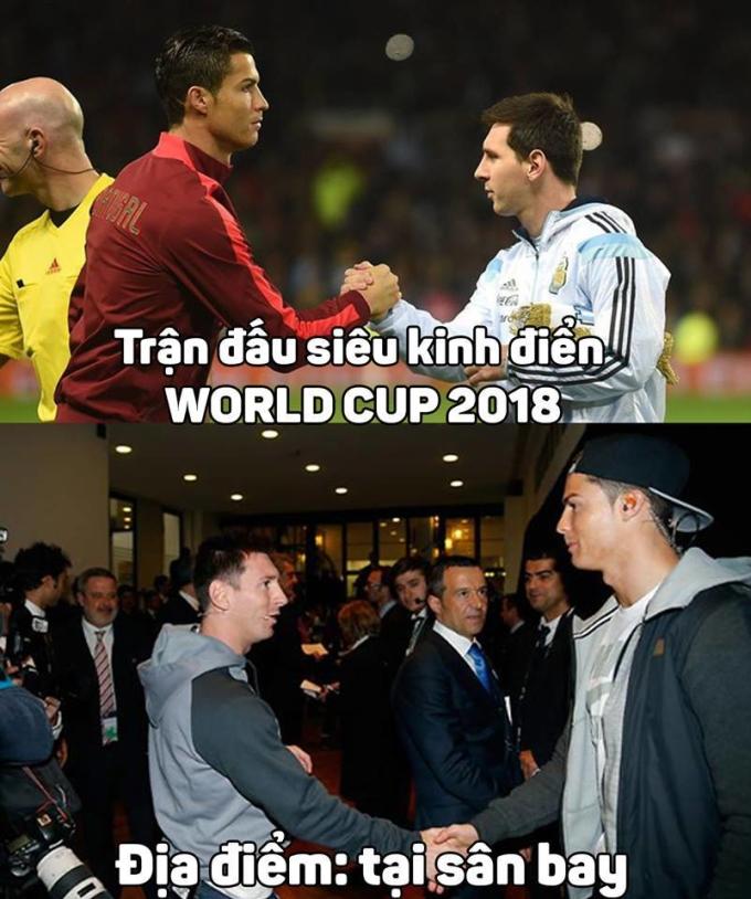 <p> Thì ra Messi và CR7 đã hẹn nhau từ trước.</p>