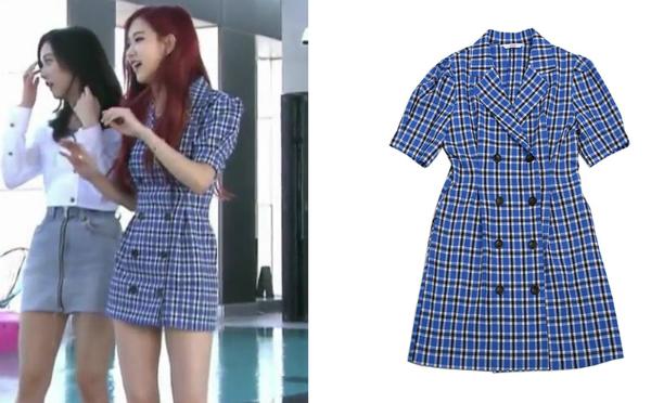 Loạt váy áo kẻ caro giá bình dân siêu xinh của idol Hàn hè 2018 - 3