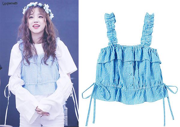 Loạt váy áo kẻ caro giá bình dân siêu xinh của idol Hàn hè 2018 - 6