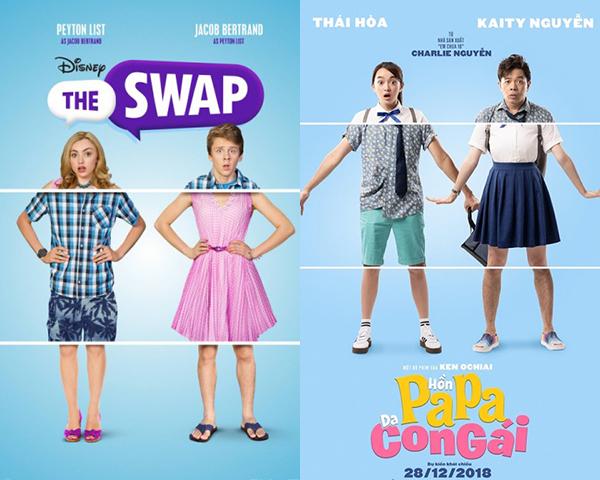 Sự trùng hợp của 2 poster phim.
