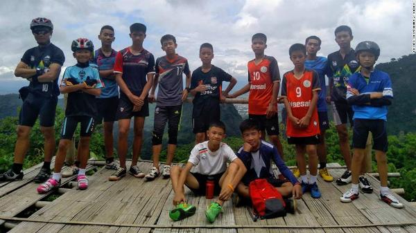 Thành viên đội bóng nhí Thái Lan bị mất tích. Ảnh: CNN