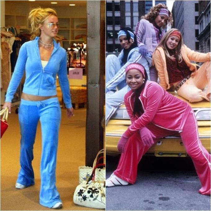 """<p> Những năm 2000, tín đồ thời trang không thể không nhắc đến hot trend mang tên """"đồ bộ thể thao"""" (tracksuit). Đó là những bộ quần áo rộng thùng thình, có phần """"luộm thuộm"""" nhưng được rất nhiều ngôi sao lăng xê như Britney Spears, Jennifer Lopez…</p>"""